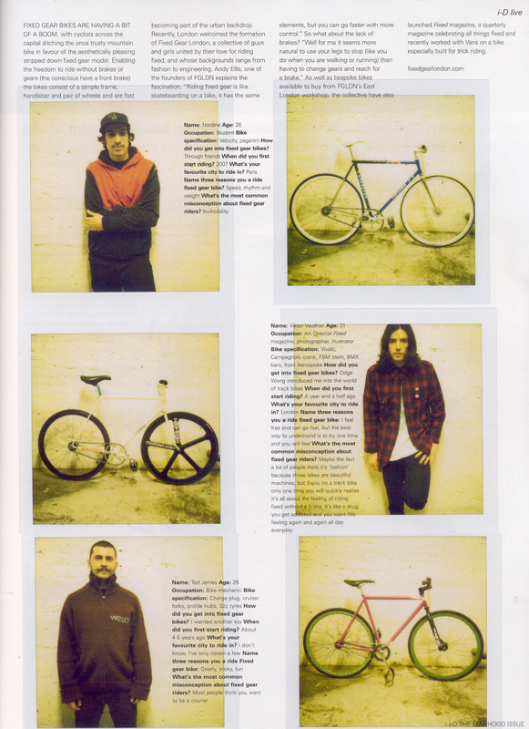Fixed Gear London in ID Magazine