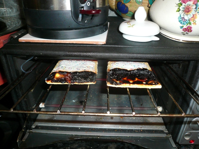 pop tarts on fire