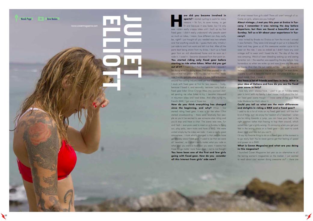 juliet elliott fixed gear cykeln magazine