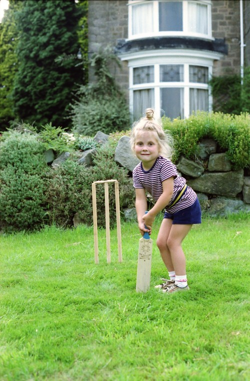 me as a kid playing cricket